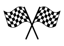 Checkered Or Chequered Flag For Car Racing Flat Vector Icon For Sports Apps And Websites