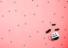 Halloween Ghost Mug With Bats ...