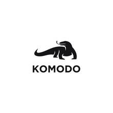 Komodo Dragon Logo Icon Design...