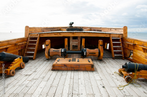 Wall Murals Ship Deck of Old Wooden Ship