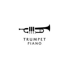 Jazz Music Piano Trumpet Logo ...