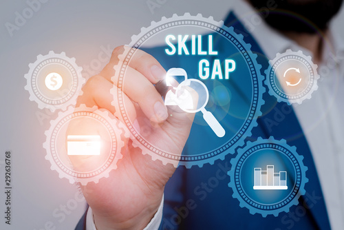 Text sign showing Skill Gap Canvas Print