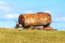 Old Rusty Water Tank Standing ...