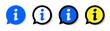 Information icon inside speech bubble