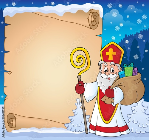 Photo sur Toile Enfants Saint Nicholas topic parchment 8