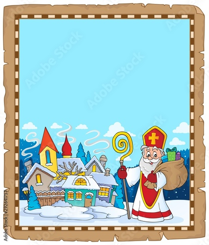 Photo sur Toile Enfants Saint Nicholas topic parchment 9