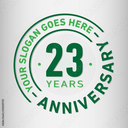 Fotografia 23 years anniversary logo template