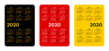2020 Pocket Size Vector Calendars With German Months