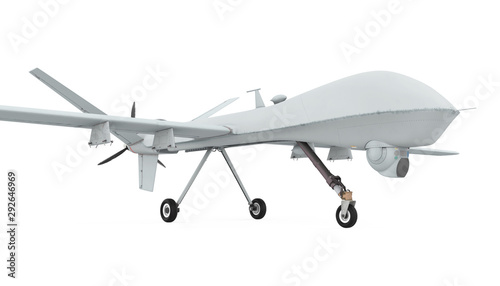 Military Drone Isolated Canvas Print