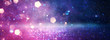 canvas print picture abstract glitter pink, purple and blue lights background. de-focused. banner