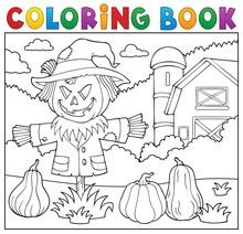 Coloring Book Scarecrow Topic 2