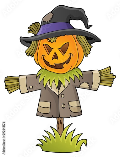 Photo sur Toile Enfants Scarecrow topic image 1