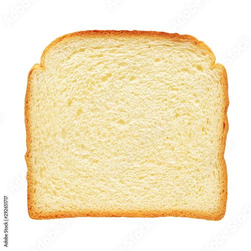Fototapeta  Fresh toast bread isolated on white background
