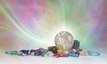 Rutilated Quartz Crystal Spher...