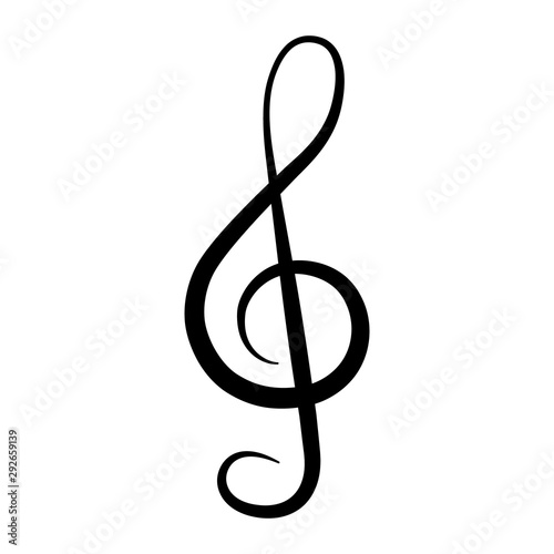 Fototapeta  Treble clef icon. Musical Note. Vector illustration