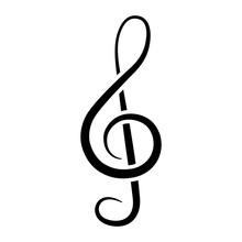 Treble Clef Icon. Musical Note...