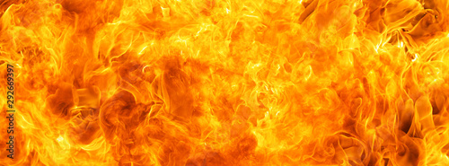 Foto auf AluDibond Feuer / Flamme abstract blaze fire flame texture for banner background