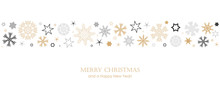 Christmas Card With Snowflake Border Vector Illustration EPS10