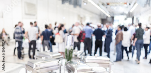 Fototapeta  Blured image of businesspeople at coffee break at conference meeting