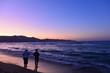 canvas print picture - Sonnenuntergang am Amoudara Strand, Heraklion/Kreta