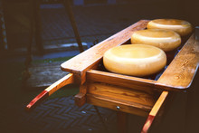 Holland Cheese Rounds At Traditional Market