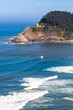 Heceta Head Lighthouse between Yachats and Florence Oregon on the Pacific Ocean in August, vertical.