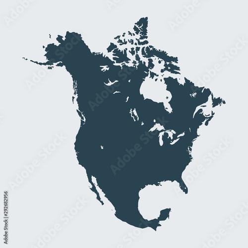 Fotomural  map of North America