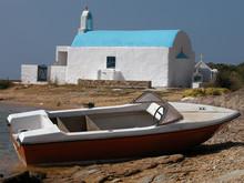 Abandoned Fishing Boat In Greece