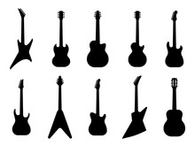 Guitar Silhouettes. Acoustic A...
