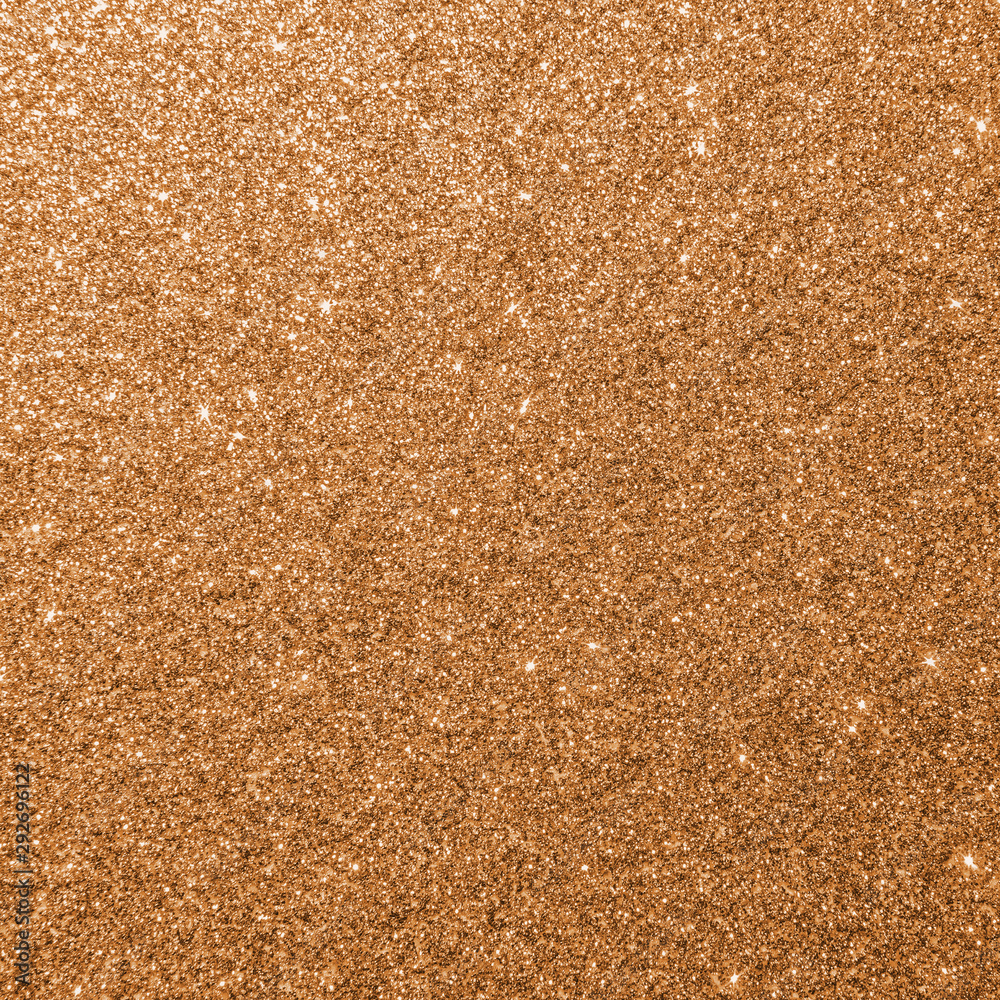 Fototapety, obrazy: Copper gold glitter texture background sparkling shiny wrapping paper for Christmas holiday seasonal wallpaper  decoration, greeting and wedding invitation card design element