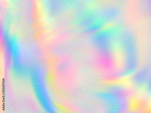 Fototapeta Holographic gradient neon vector illustration.