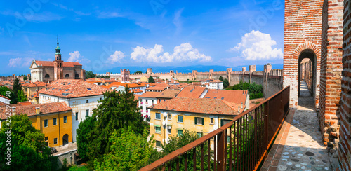 Cittadella - best preserved walled fortified medieval town in Italy, Veneto region
