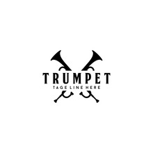 Musical Instrument Trumpet Logo Design