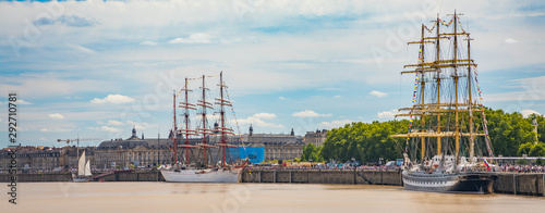 Photo Sedov and Kruzenshtern Russian four-masted barques sail training ships moored to