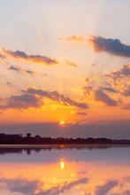 Sunset Reflection Lagoon. Beau...