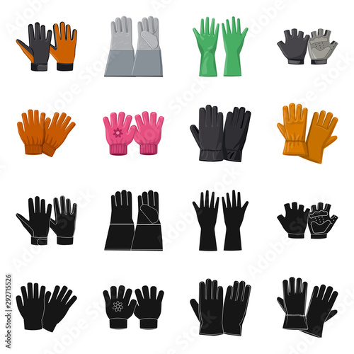 Vector design of glove and winter logo Canvas-taulu