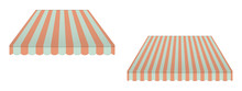 Striped Vintage Awning Canopy,...