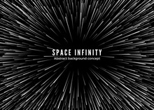 Sapce Infinity. Abstract Backg...