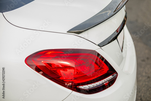 detail of car. white sports car, Close-up фототапет