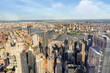Manhattan and Brooklyn bridge, aerial view, NYC