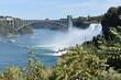 Niagara River's American Falls and Rainbow Bridge, between New York State, USA, and Ontario, Canada, viewed from the New York side of Niagara -06
