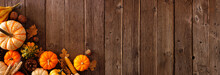 Autumn Corner Border Banner Of...