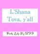Leinwanddruck Bild - Rosh Hashana greeting in pink