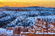 Sunrise In Bryce Canyon Nation...