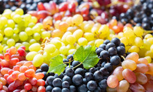 Mix Of Colorful Ripe Grapes