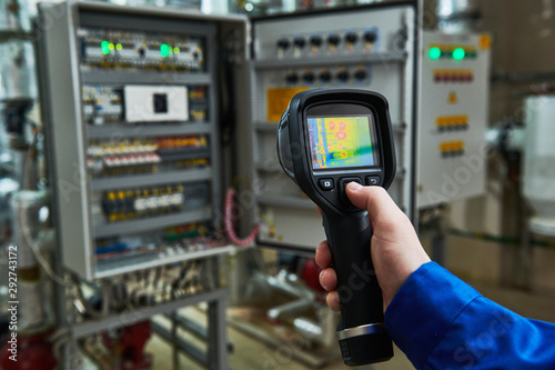 thermal imaging inspection of electrical equipment Fototapet