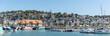 canvas print picture - Panoramafoto vom Hafen in Trouville, Normandie, Frankreich