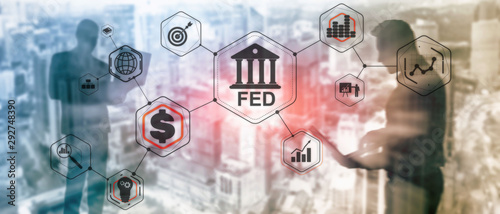 Fotografija Financial Business Background Federal Reserve System. FED.