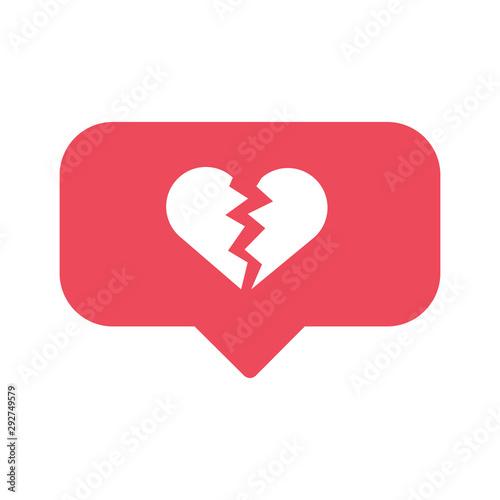 Fotografía broken heart social network like concept vector