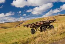 Meadow. Haystacks  Landscape, ...